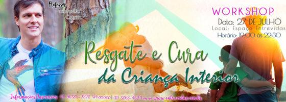 Banner Retangular O RESGATE E A CURA DA CRIANÇA INTERIOR